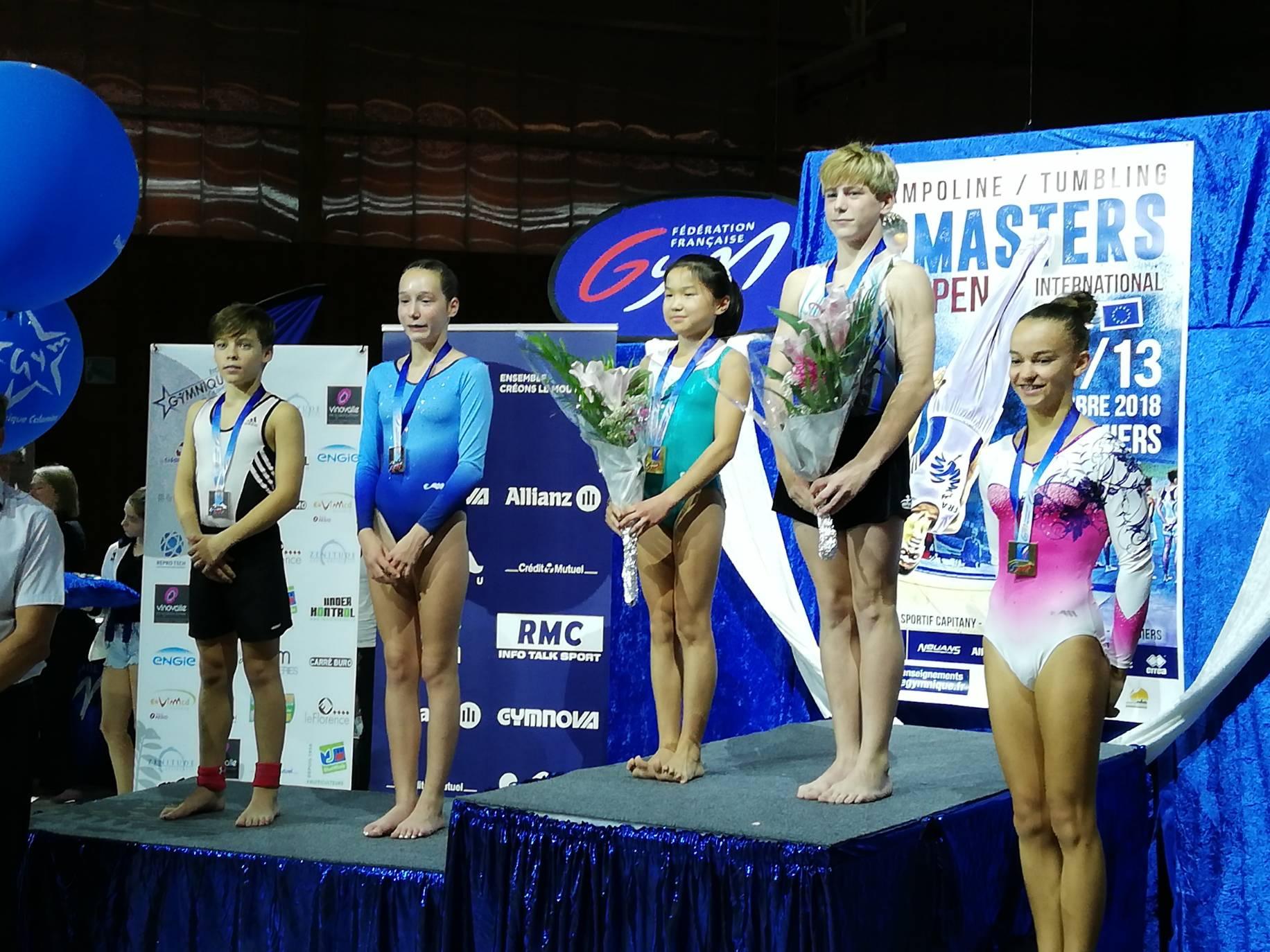podium tumbling elite 13-14 ans