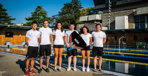 Équipe nageurs avec palme CPB Bréquigny